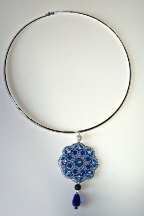 Iznik Blue necklace