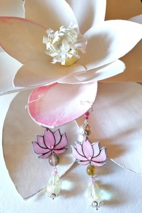 Lotus flowers earrings