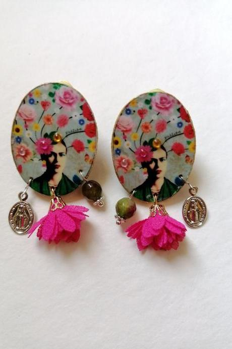 Frida boutique collection - 'Frida flower' earrings II