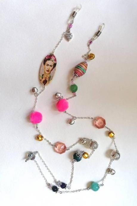 Frida boutique collection - Frida Kahlo glass chain holder