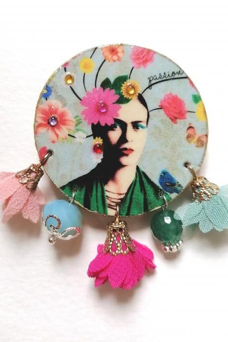 Frida boutique capsule collection - 'Frida flower' brooch