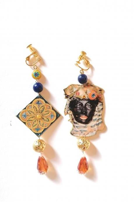 Caltagirone earrings VII