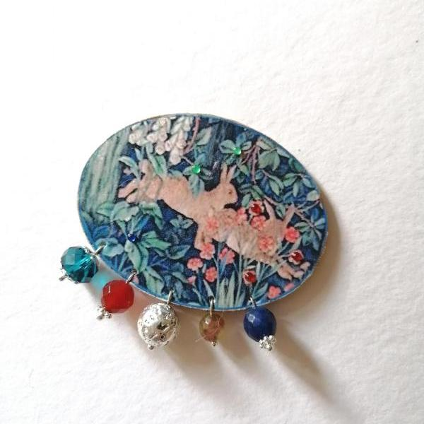 William Morris Forest brooch